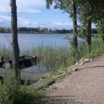 ścieżka spacerowo-rowerowa wokół jeziora Ołów