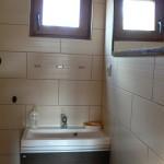 Domek wędkarski łazienka