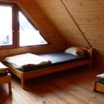 Domek wędkarski sypialnia