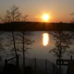 widok na jezioro Ołów